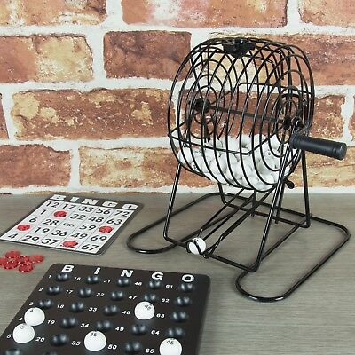 Christmas Bingo Game Cards (Bingo Game Set with bingo cage, balls, cards & markers perfect gift Xmas)