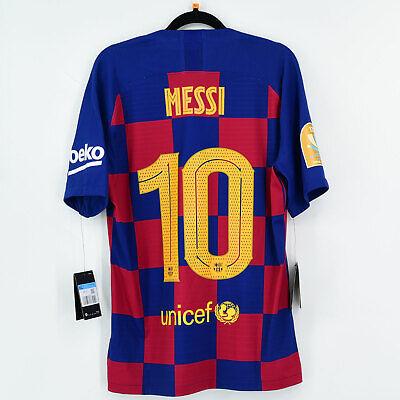 2020 Final Supercopa Barcelona Home Shirt #10 MESSI (New) M Vapor Match...