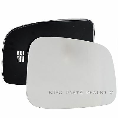 Driver Side HEATED WING DOOR MIRROR GLASS VW Transporter T5 2003 2009 Clip On
