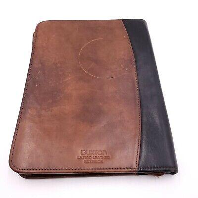 Vintage Buxton Padfolio Portfolio Organizer Legal Size Brown Leather