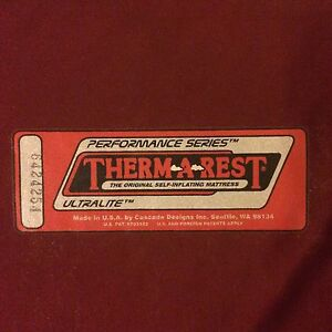 Ultra-lite Therm-a-rest sleeping pad