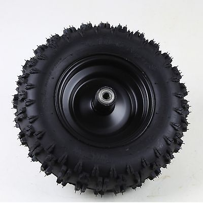 Off road 4.10-6 Tire Tyre and Rim Go kart ATV Trolley Moped Mower Front Tyre