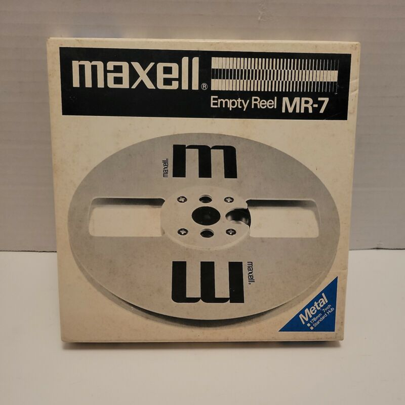 """Maxell MR-7 Metal Reel to Reel 7"""" Take Up Empty Reel - Very Good Condition"""