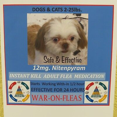 Flea Pills Instant 12mg Dogs 2-25lbs. (12) pack SALE $9.99 GREAT REVIEWS!!
