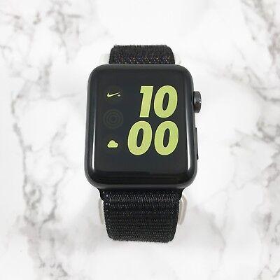 Apple Watch Nike+ Series 2 42mm Space Gray Aluminum Black Nylon Loop GPS