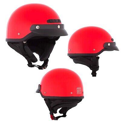 Motorcycle Half Helmet Open Face Red XLarge CKX VG-500 DOT Helmet BEST