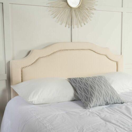 Kiera Cream Fabric Queen/ Full Headboard Beds & Mattresses