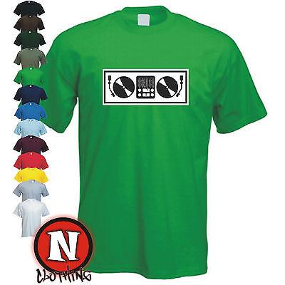 Dj Plattenspieler Club, Tanz, Music, Rabe , Cool, Lustiges T-Shirt ()