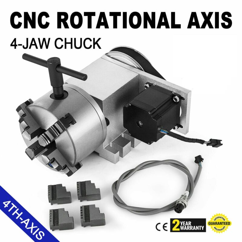 CNC Router Rotational Rotary Axis 4-Jaw 4th-axis Self-centering High Performance