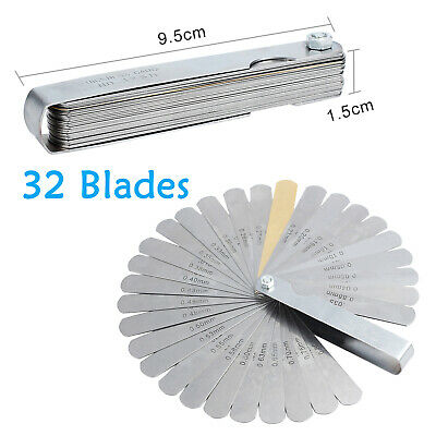 32 Blade Feeler Gauge Dual Reading Combination Feeler Gauge Measuring Tool Us