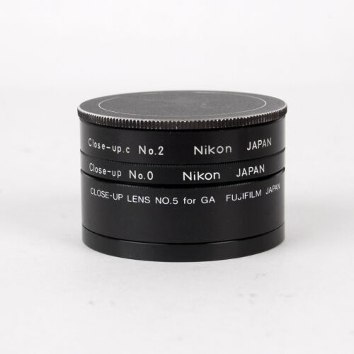 Set of 3 Close-up Attachment Lens Filters No.0 No.2 No.5 52mm Screw-In Nikon