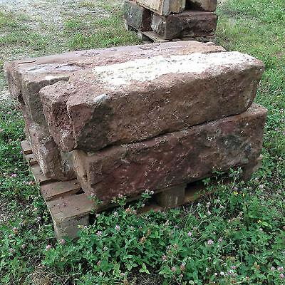Antik Buntsandstein Mauer Pfeiler Quader Tor Zaunpfosten Sandsteine Natursteine