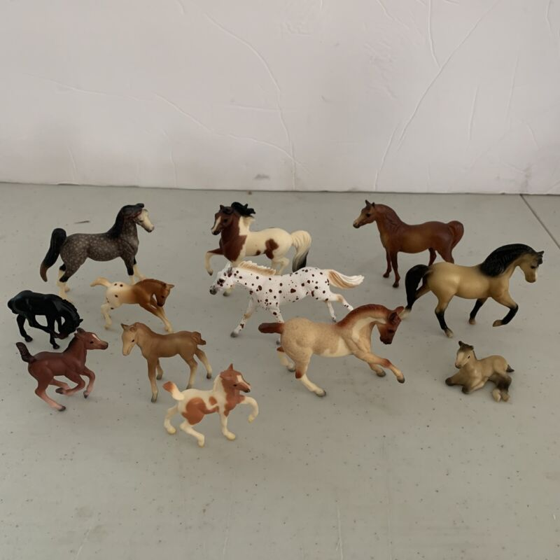 VTG Breyer Horses Mixed Lot of 12 1975-1999-Stablemates, Minis