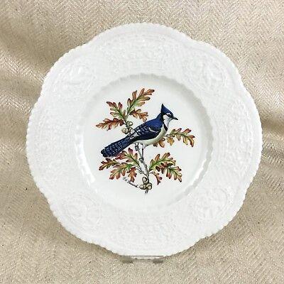 Royal Cauldon Plate Bristol Ironstone Summer Blue Jay Birds Henry A Pausch