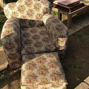 Club chair with foot rest Glendenning Blacktown Area Preview