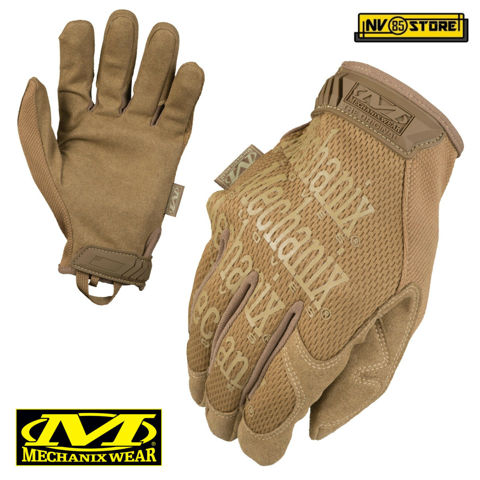 Guanti MECHANIX Original Tactical Gloves MG Softair Security Antiscivolo Coyote