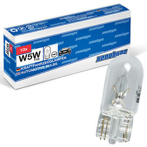 10x xenohype W5W T10 Standlicht  Kennzeichenlicht Autolampen Glassockellampen