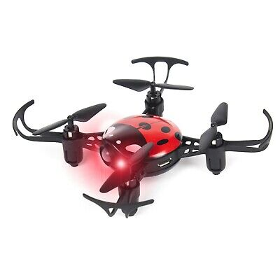 Ladybug Mini Quadcopter - Faint Control RC Mini Drone Toy for Beginners - RED