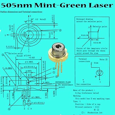 Sharp 505nm 35mw Water-green Laser Diode5.6mmbrand New1 Pcs