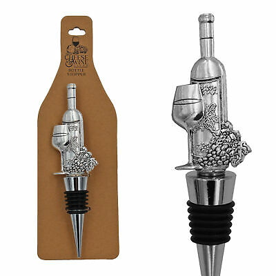 Stylish Wine Gift Stainless Steel Bottle Stopper with Topper - Wine Bottle