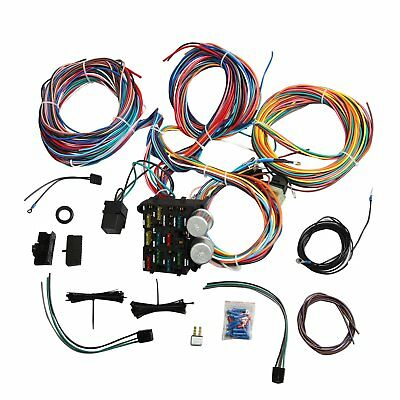 Wire 12 Circuit Wiring Harness For Chevy Mopar Ford Street Hot Rod Universal