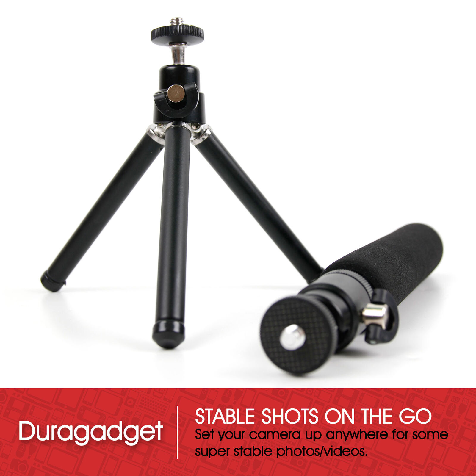 DURAGADGET Hands Free Lightweight Camera Mount With Removable /& Extendable Legs For The New Samsung Galaxy Camera 2
