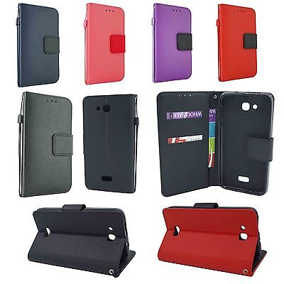 Kyocera Leather (For Kyocera Hydro Wave C6740 Leather Wallet Case Cover w/ Card Holder & Strap )