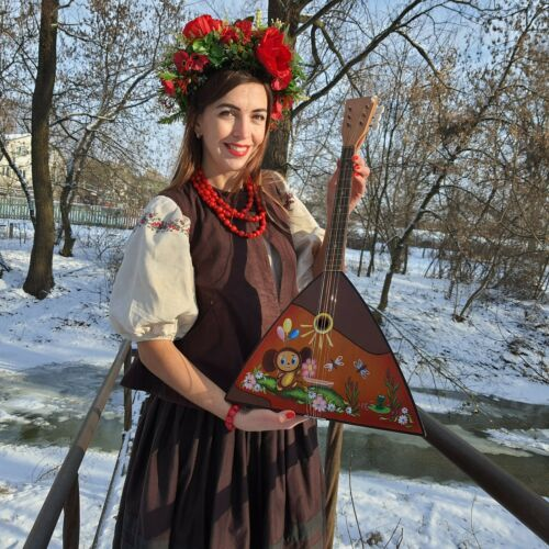 Balalaika - Musical instrument of the USSR - Russian vintage instrument -  decor