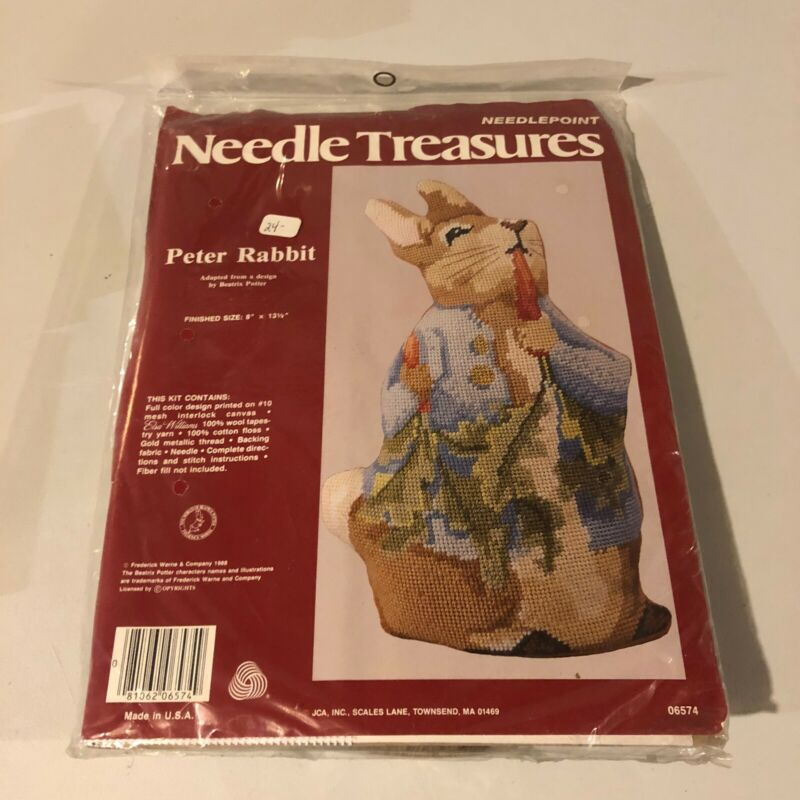 Needle Treasures PETER RABBIT Needlepoint Kit NEW #06574 Vintage Rare!!