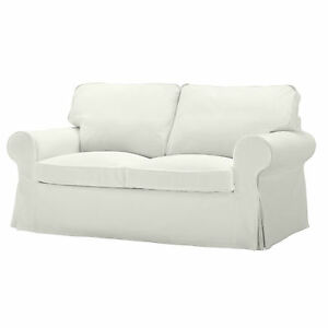 Ikea Ektorp 2 Seat Replacement Loveseat Sofa Slip Cover Blekinge White Couch Ebay