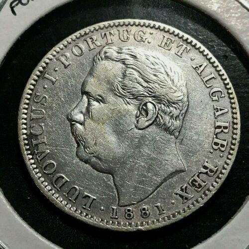 1881 PORTUGUESE INDIA SILVER ONE RUPEE SCARCE COIN