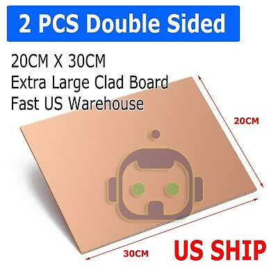 2pcs 30cm X 20cm Double Sided Diy Copper Clad Plate Laminate Pcb Circuit Board