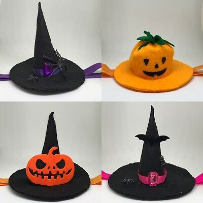 Handmade Witch Hat ,Pumpkin Halloween Headbands Girl Newborn Elastic Band Infant - Halloween Pumpkin Headbands