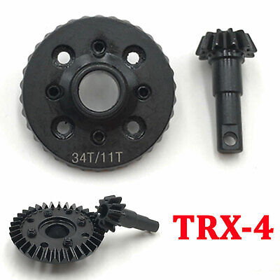 Machined Overdrive Ring & Pinion Gear (11/34T) For 1/10 Traxxas TRX-4 RC Crawler