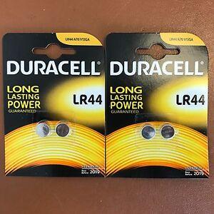 4 x DURACELL LR44 1.5V ALKALINE CELL BATTERY A76 AG13 SR44 GPA76 Longest Expiry