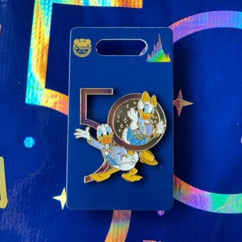 Disney Parks 50th Anniversary Donald & Daisy Duck Pin - NEW