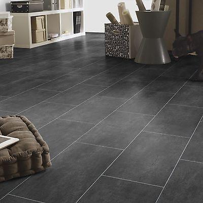 PVC Bodenbelag Tarkett 150 Melbourne Noir Fliese Anthracit alle Breiten 9,50€/m²