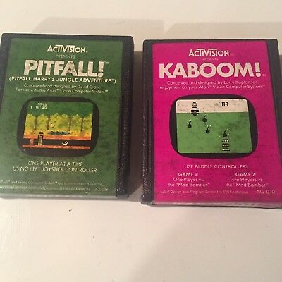 Activision Games-2-pitfall and kaboom - Kaboom Games