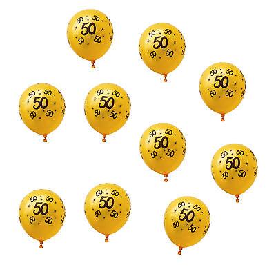 Luftballons Schwarz (10x Luftballons mit Zahl 50 für Geburtstag Jubiläum Goldene Hochzeit Ballons)