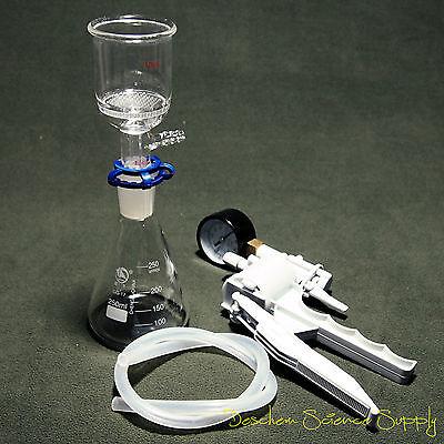 250mlsuction Filtration Deviceid 47mm Buchner Funnelglass Flask Wvacuum Pump