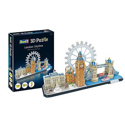 3D Puzzle London Skyline 54cm Big Ben Tower Bridge Revell 00140 Gebäude Bauwerk
