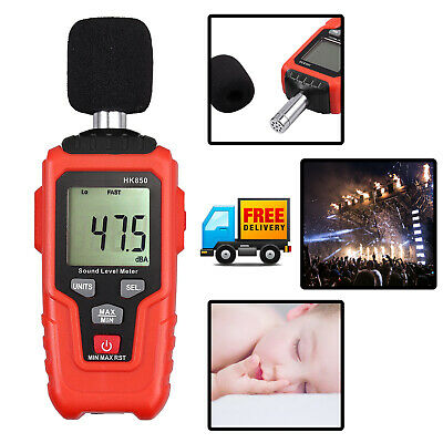 Digital Sound Level Decibel Noise Meter Tester Temprature Measurement 35135db