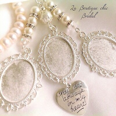 Stunning triple bridal bouquet photo frame memory charm, gift, wedding, bride