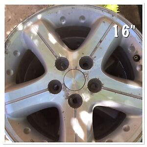 4 alloy rims 16""