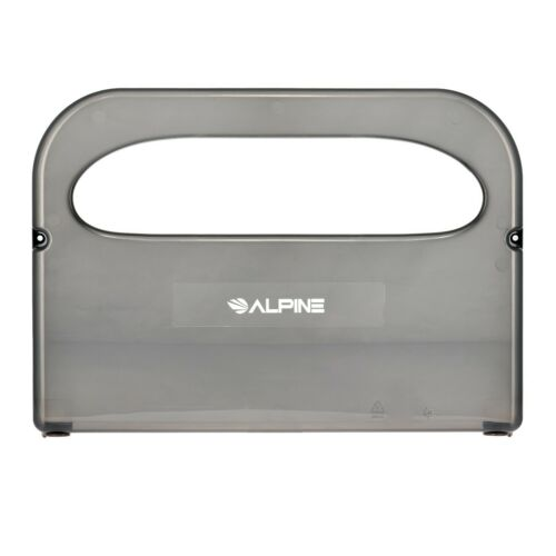 Alpine Industries Black Wall Mount Disposable Holder Toilet Seat Cover Dispenser