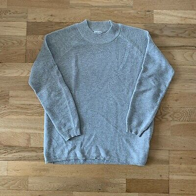 Jacqueline de Yong Long Sleeve Grey Ribbed Top, Size S Small, Women's Jumper