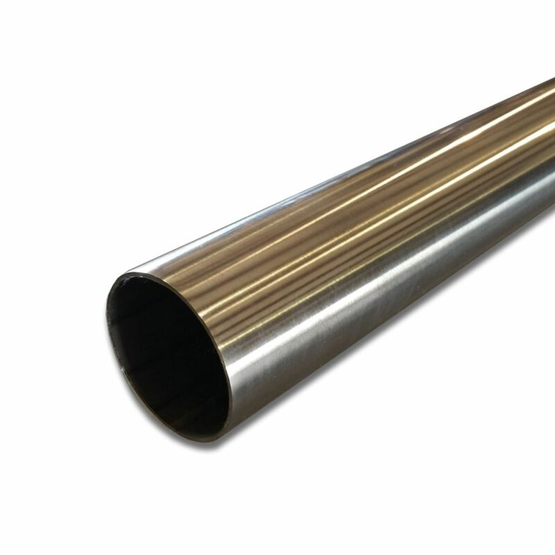 """304 Stainless Steel Round Tube, 1-1/2"""" OD x 0.109"""" Wall x 48"""" long, Polished"""