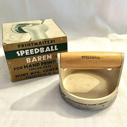 Printmasters Speedball Baren 4139 for Hand Printing Teflon Base 4 inch Orig Box