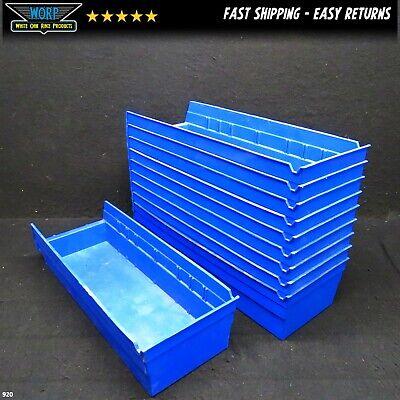 10 Pack Akro Mils Blue Storage Parts Bins 17x6x4