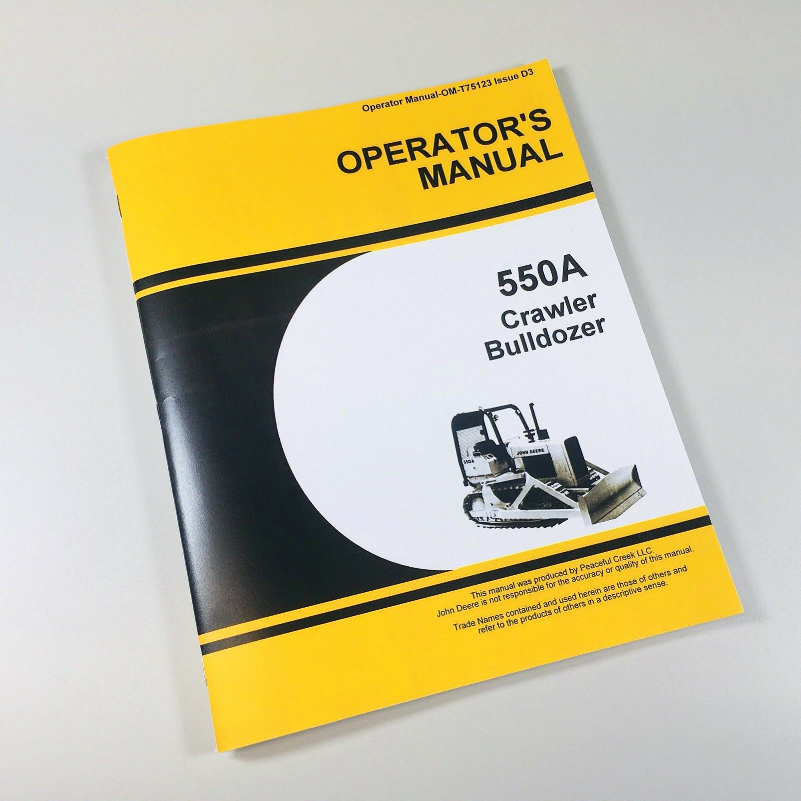 ... JD 550A Crawler Dozer. Complete Operations/Controls/Maintenance.  Reproduction of the Factory Manuals. This comprehensive manual includes
